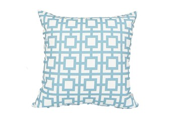 Accent Pillow-Sky Blue Squares 18X18