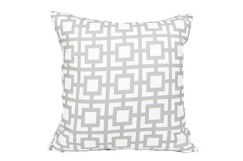 Accent Pillow-Silver Squares 18X18