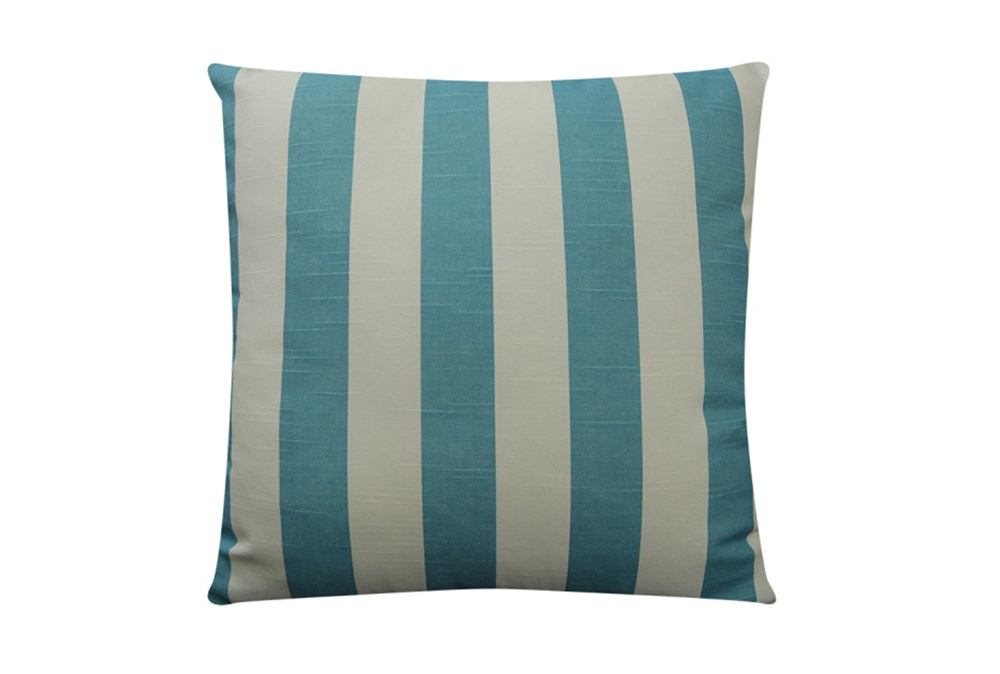 Accent Pillow-Wide Stripe Teal 18X18