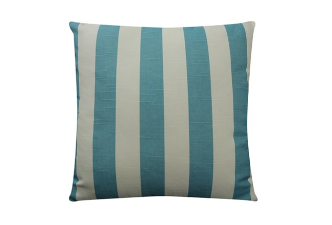 Accent Pillow-Wide Stripe Teal 18X18 - 360