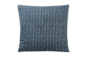 Accent Pillow-Dark Teal Ticking 18X18