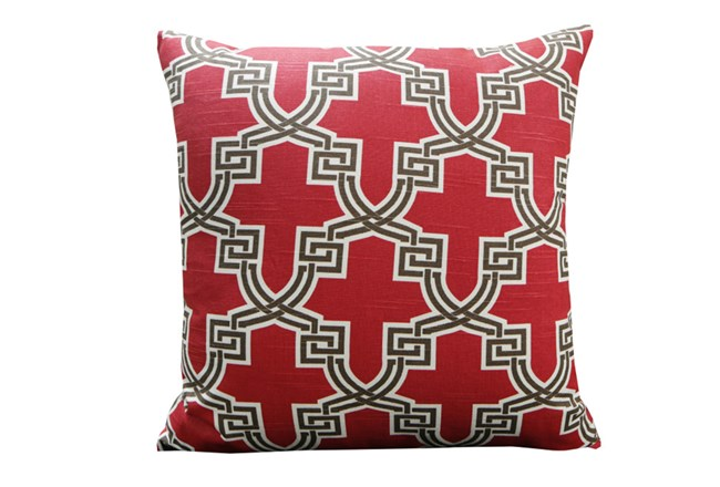 Accent Pillow-Mame Trellis Red 18X18 - 360