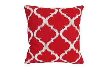 Accent Pillow-Clover Red 18X18