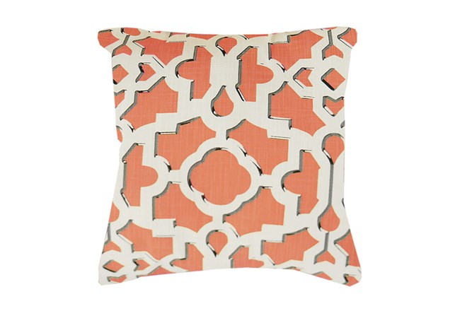 Accent Pillow-Island Gate Coral 18X18 - 360