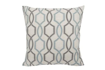 Accent Pillow-Hampton Trellis Teal 18X18