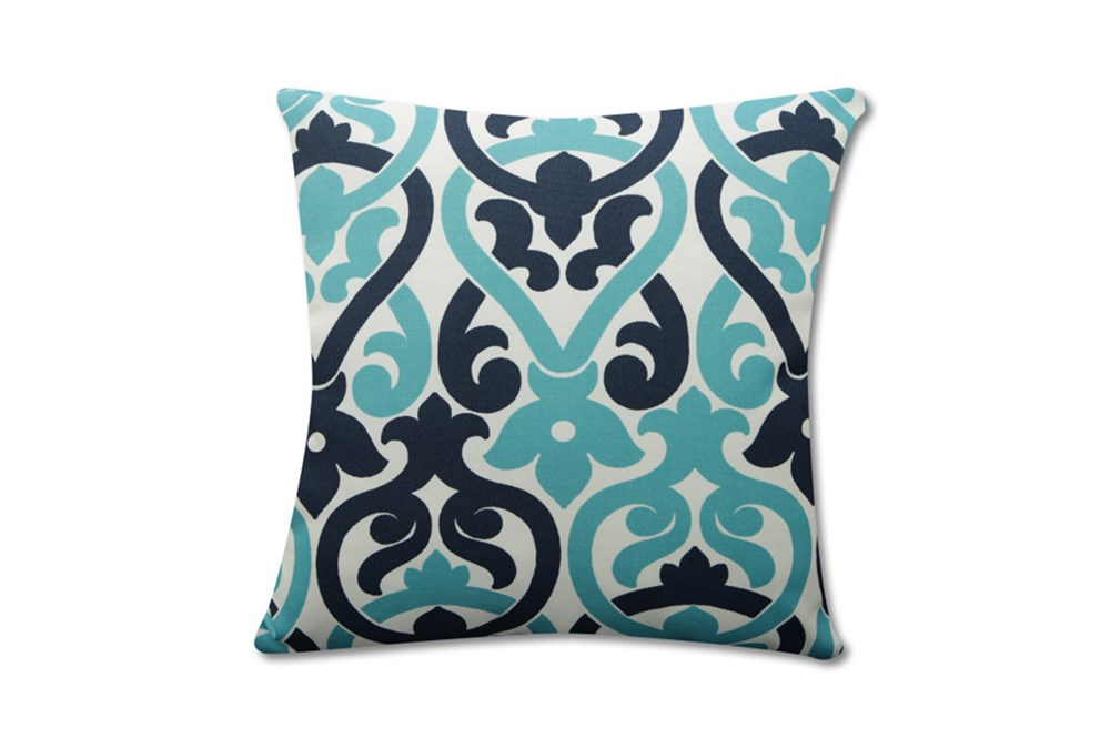 Accent Pillow-Harnett Damask Teal 18X18
