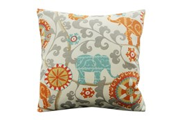 Accent Pillow-Circus Suzani Orange 18X18