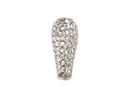 Silver Decorative Vase Small