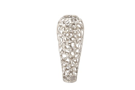 Silver Decorative Vase Medium