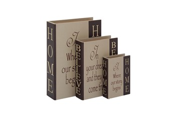 3 Piece Set Home & Believe Boxes Dark