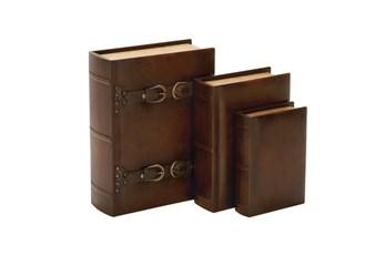 3 Pieces Set Wood Buckle Boxes