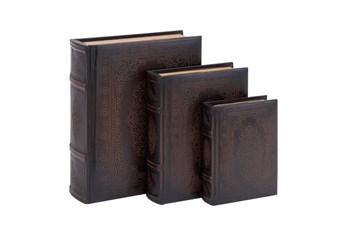 3 Piece Set Wood Scroll Boxes