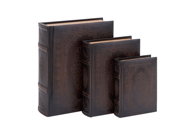 3 Piece Set Wood Scroll Boxes - 360
