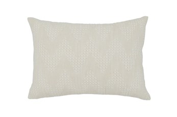 Accent Pillow-Basic Chevron Cream 14X20