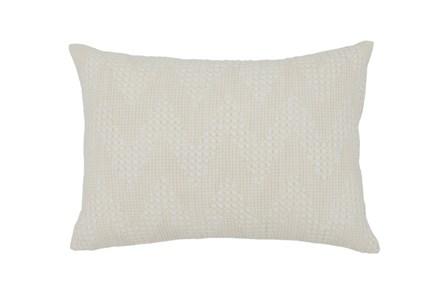 Accent Pillow-Basic Chevron Cream 14X20