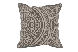 Accent Pillow-Taupe Henna Print 18X18