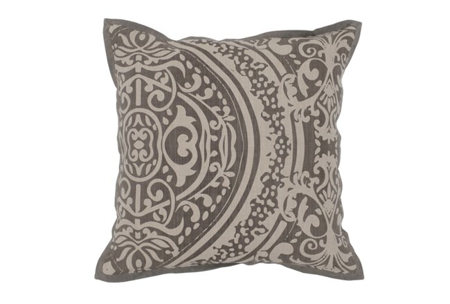Accent Pillow-Taupe Henna Print 18X18 - 360