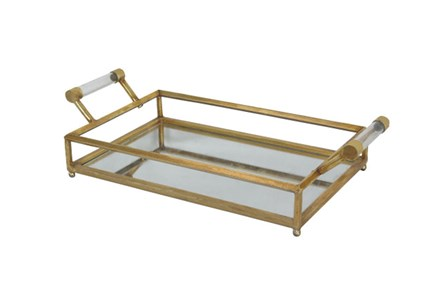 Mirror And Metal Tray