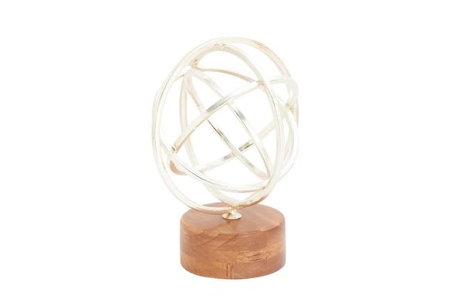 Metal Wood Silver Sculpture - 360