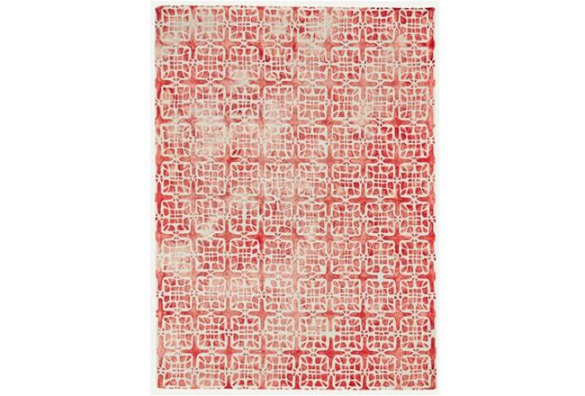 60X96 Rug-Red Tie Dye  Cubes - 360