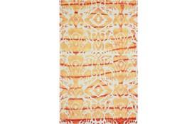 96X132 Rug-Orange Tie Dye Ikat