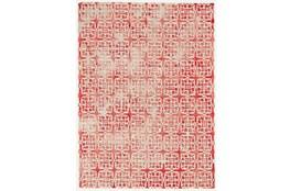 96X132 Rug-Red Tie Dye  Cubes
