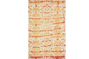 114X162 Rug-Orange Tie Dye Ikat