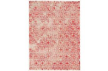 114X162 Rug-Red Tie Dye  Cubes