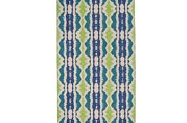 60X96 Rug-Blue And Lime Global Stripes