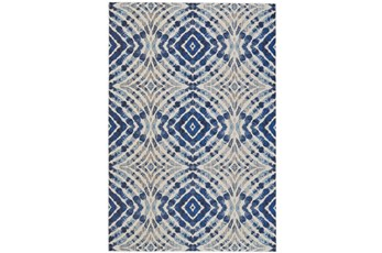 63X90 Rug-Royal Blue Kaleidoscope