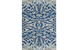 94X132 Rug-Royal Blue Kaleidoscope Damask