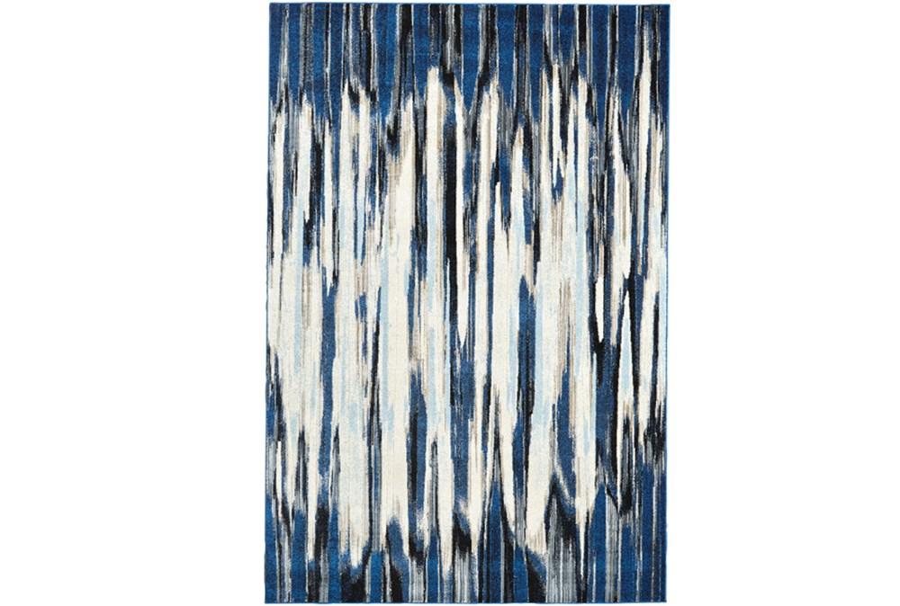 94X132 Rug-Royal Blue Watermark Strie