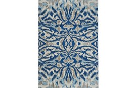 122X165 Rug-Royal Blue Kaleidoscope Damask