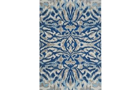122X165 Rug-Royal Blue Kaleidoscope Damask
