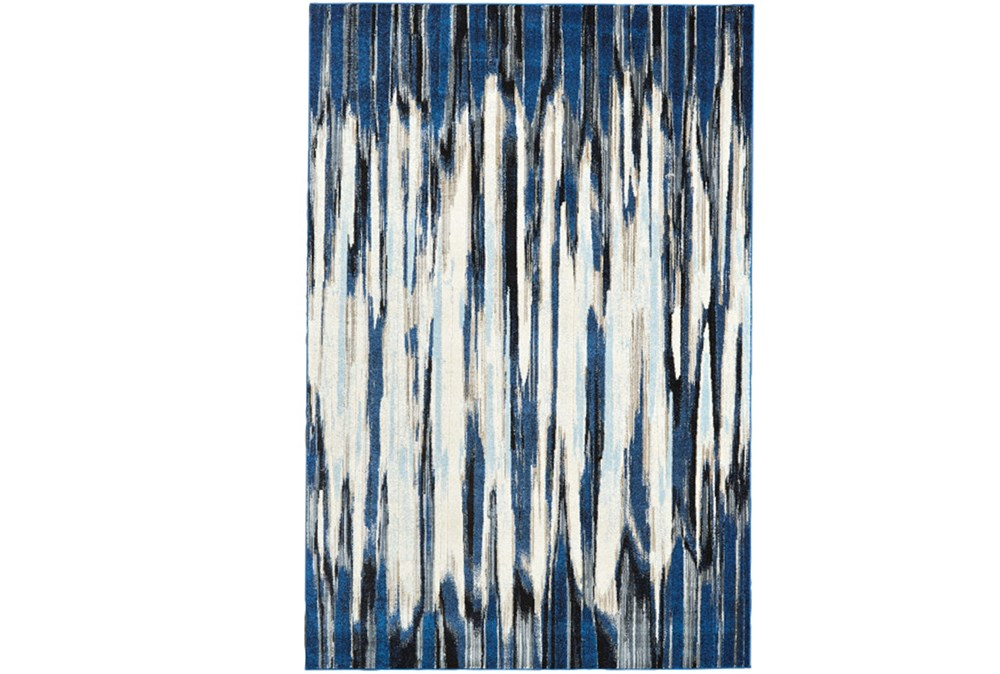 122X165 Rug-Royal Blue Watermark Strie