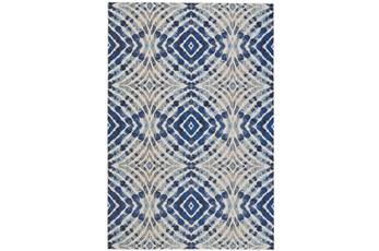 122X165 Rug-Royal Blue Kaleidoscope