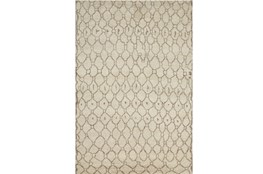 66X102 Rug-Undyed Natural Wool Organic Geometric