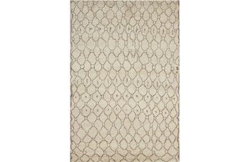 66X102 Rug-Undyed Natural Wool Organic Geometric