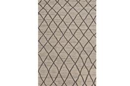 66X102 Rug-Undyed Natural Wool Cross Hatch