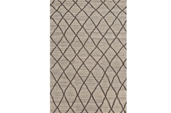 66X102 Rug-Undyed Natural Wool Cross Hatch