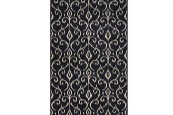 120X158 Rug-Black And Ivory Scroll