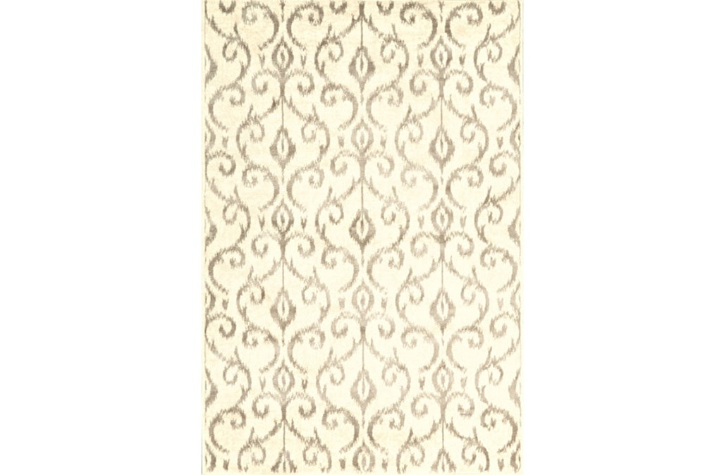 60X96 Rug-Cream And Grey Scroll