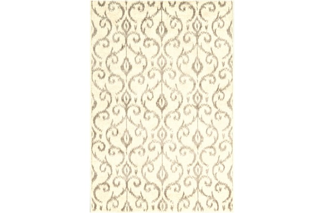 60X96 Rug-Cream And Grey Scroll - 360