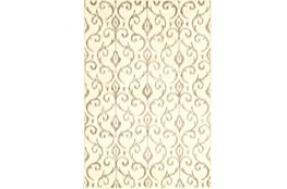 94X132 Rug-Cream And Grey Scroll