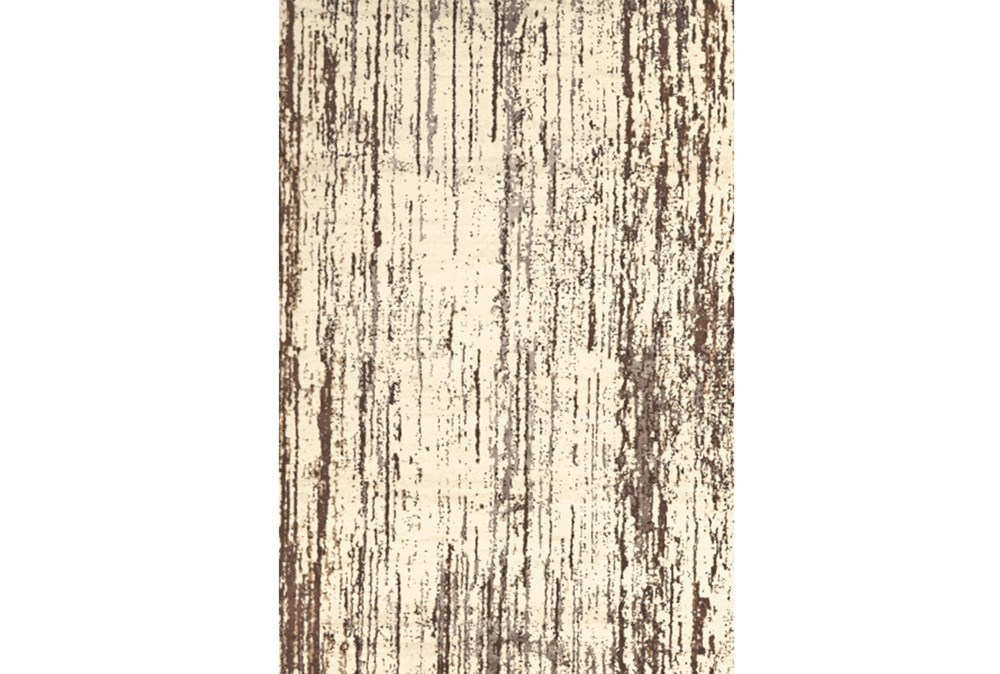 94X132 Rug-Cream And Brown Faux Bois