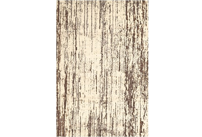 94X132 Rug-Cream And Brown Faux Bois - 360