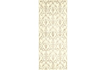 34X94 Rug-Cream And Grey Scroll