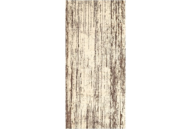 34X94 Rug-Cream And Brown Faux Bois - 360