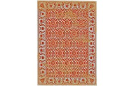 96X132 Rug-Vibrant Orange And Yellow Tapestry