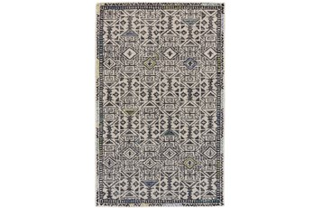 24X36 Rug-Kiwi And Blue Native Print